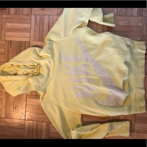 Nike yellow sweatshirt